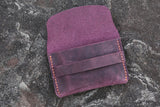 vintage purple marine blue women card holder organizer