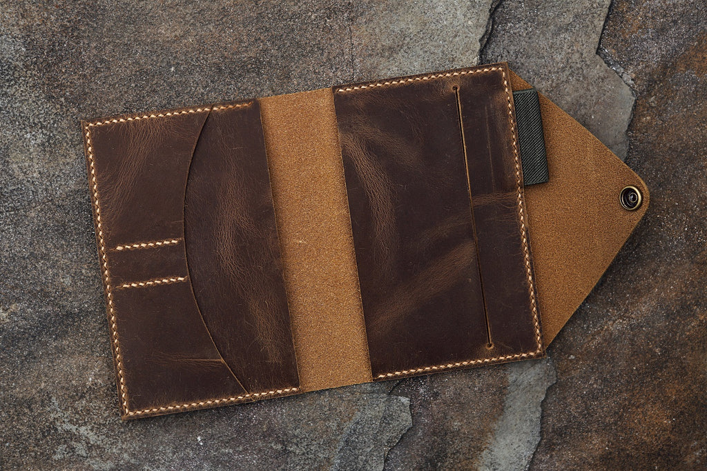 leather moleskine planner cover