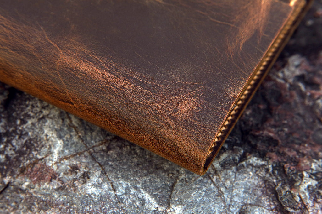 rustic leather notebook