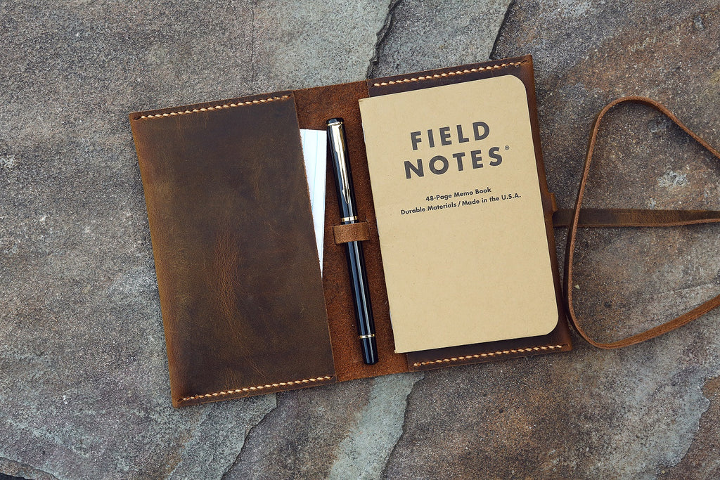 leather field notes holder