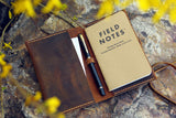 Distressed leather field notes holder field notes EDC cover