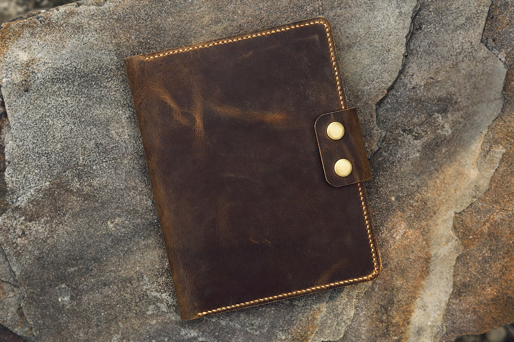 Full grain leather rhodia pad holder portfolio for RHODIA notepad No 16