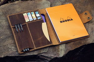 leather RHODIA notebook cover