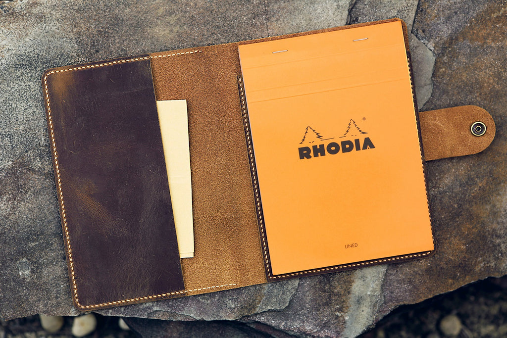 leather RHODIA cover