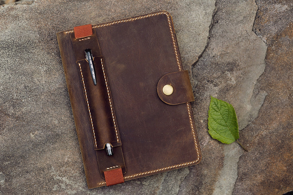 leather RHODIA A5 cover