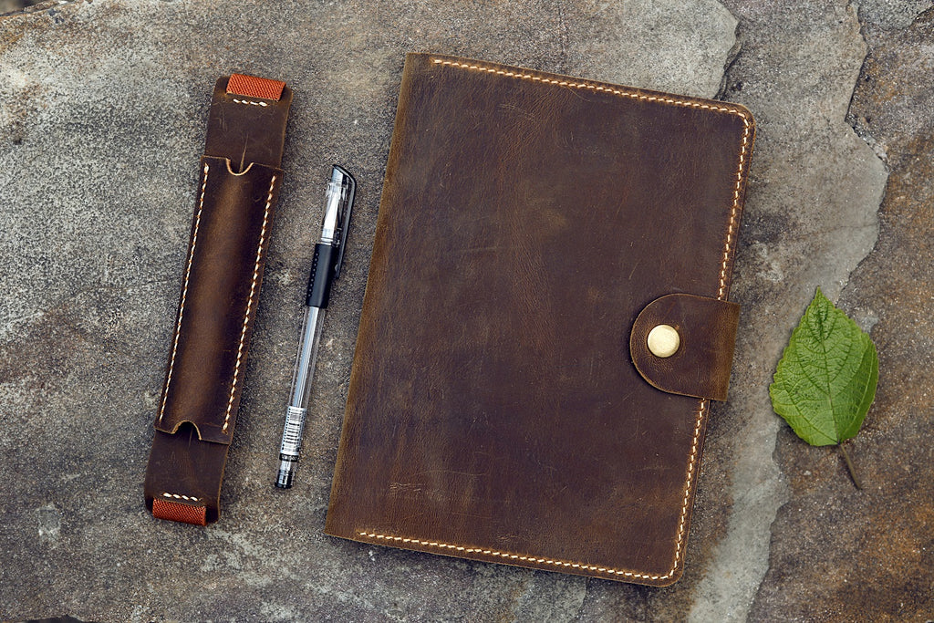 leather rhodia notepad holder cover for RHODIA pad notebook No 16 A5