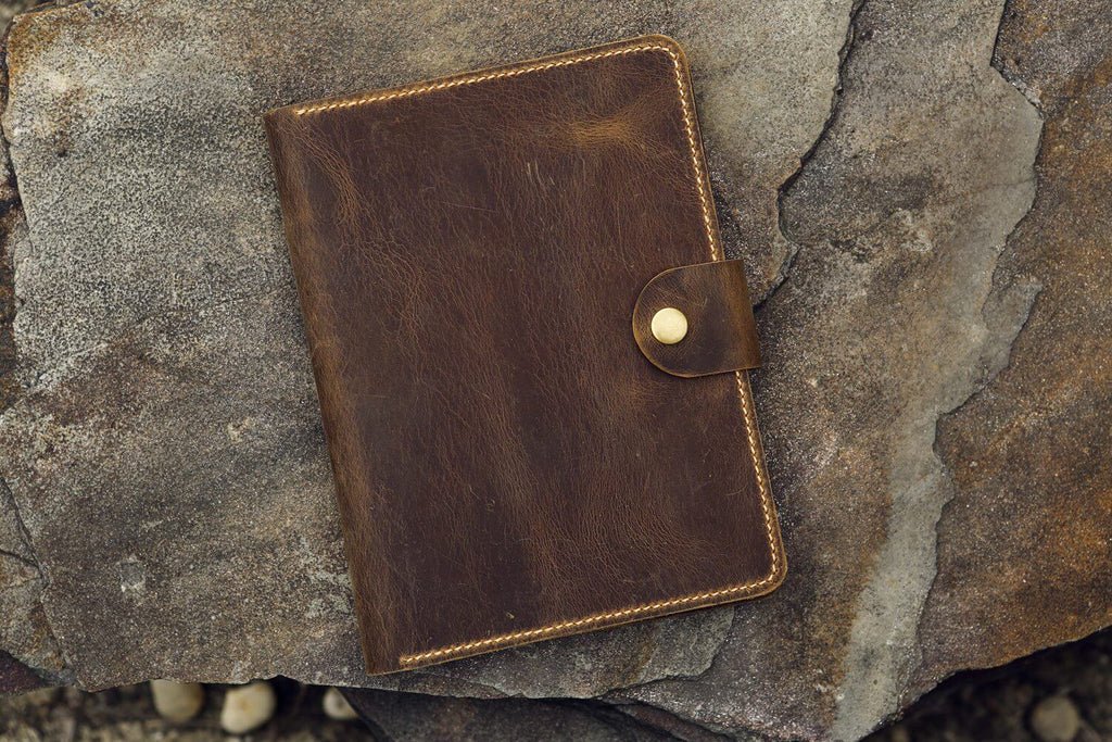 distressed leather rhodia cover