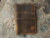 Personalized distressed leather family 4 passport holder case organizer wallet