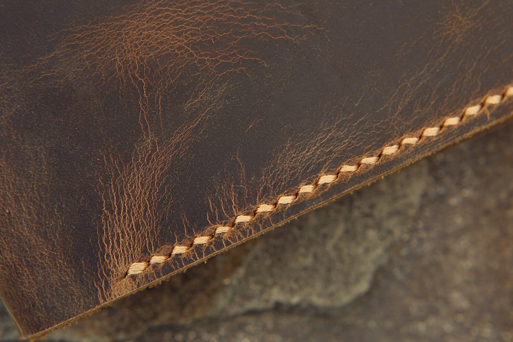 Personalized distressed leather hobonichi techo cover A5 A6
