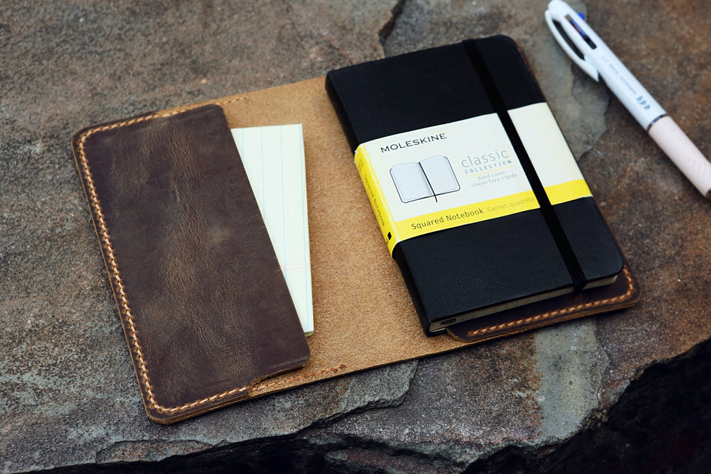 leather cover for moleskine journals