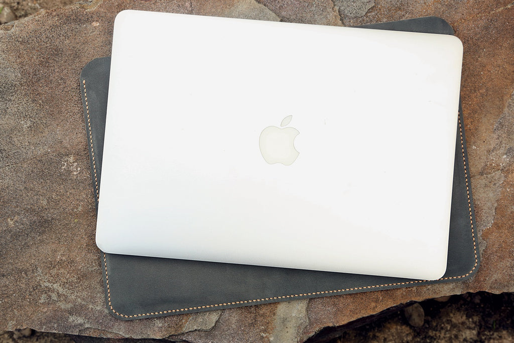 Macbook pro air leather sleeve case