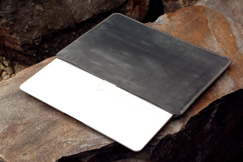 macbook pro leather sleeve