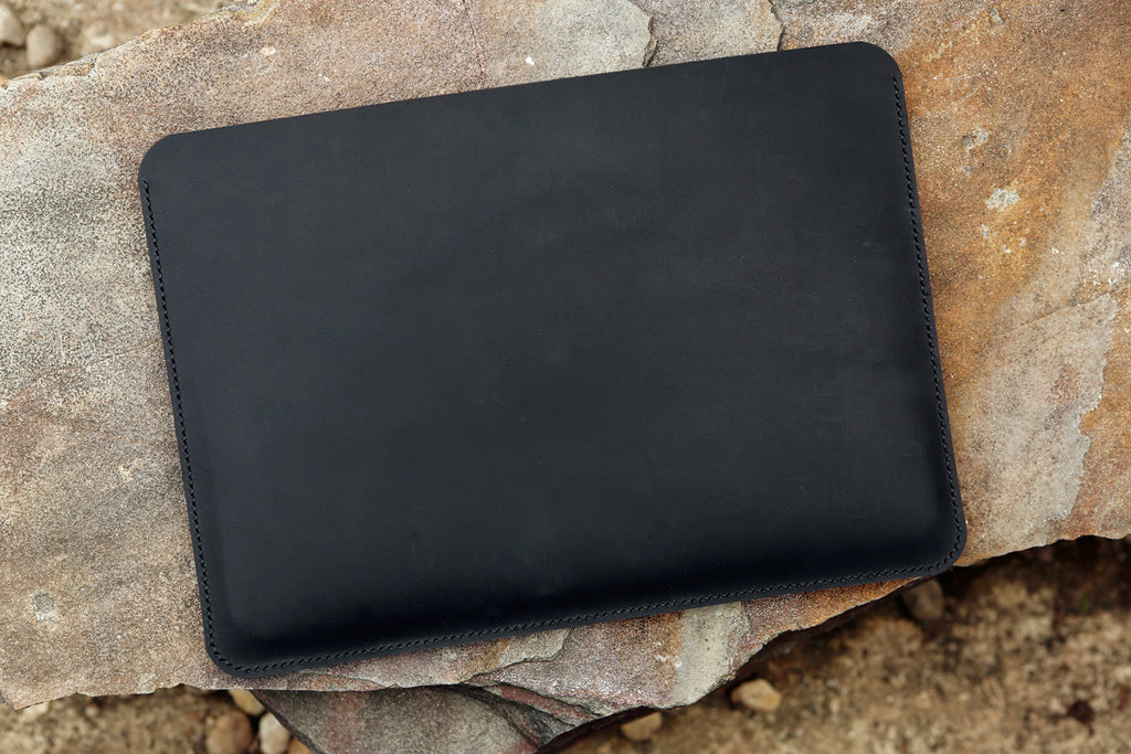 leather sleeve for 13 inch macbook pro black