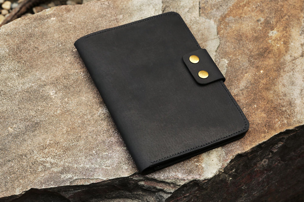 Black leather rocketbook everlast cover executive size