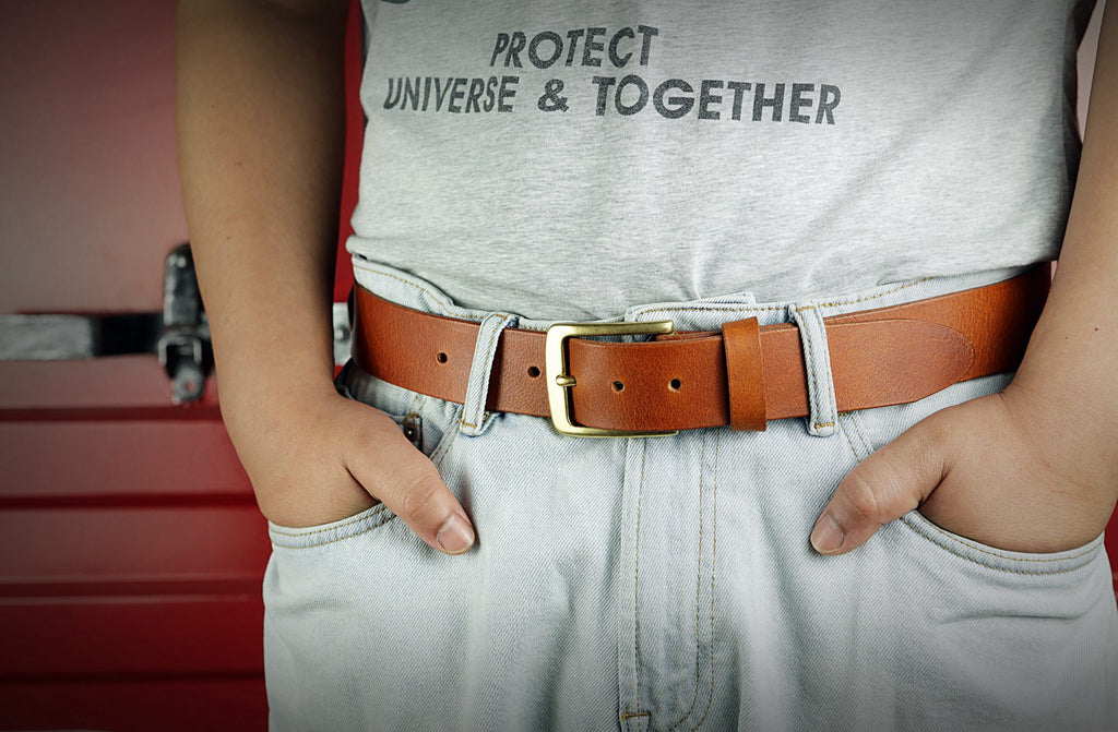 brown leather belt for mens