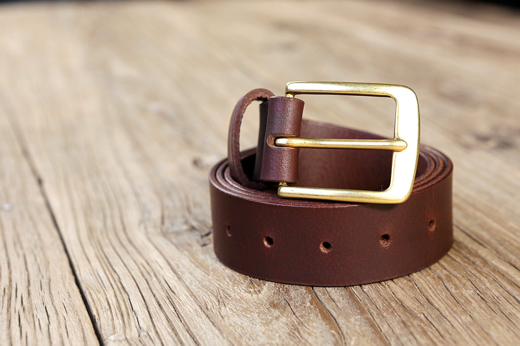 Personalized full grain men leather belt