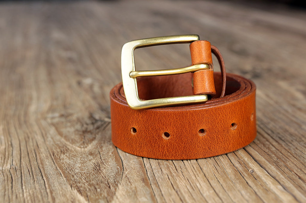 vegetable tanned leather belt