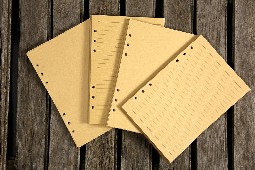 Personalized leather binder planner refillable binder