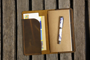 leather midori style notebook