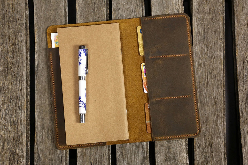 leather midori style notebook cover