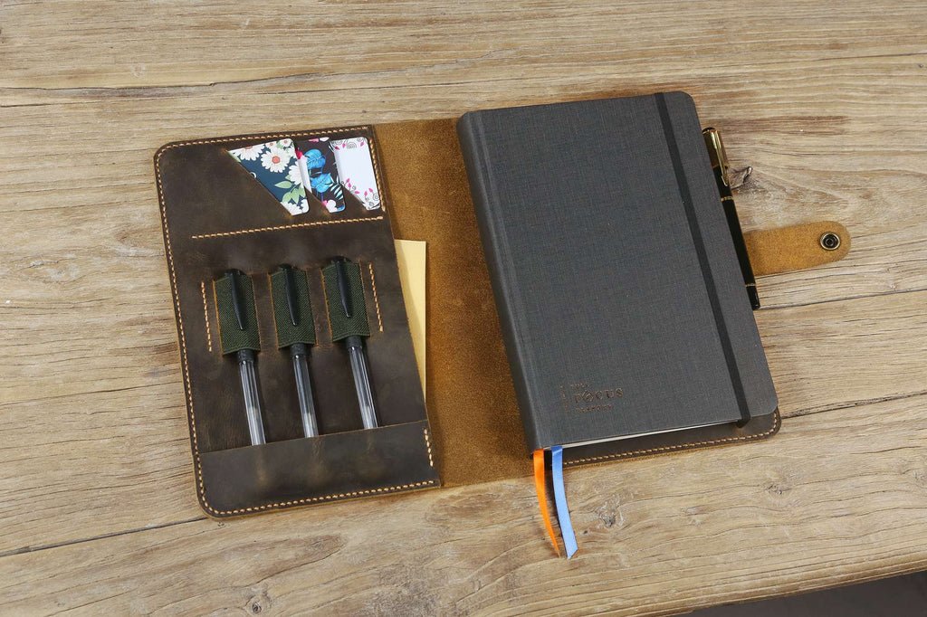 Personalized leather portfolio folio for Full Focus Planner