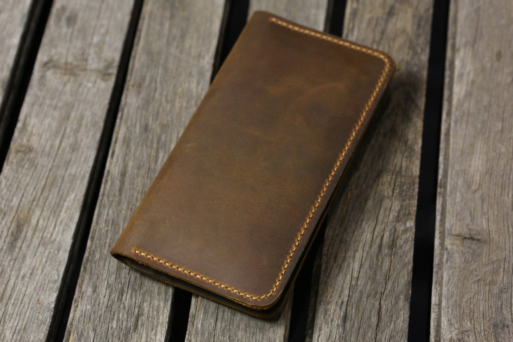 Leather men phone wallet for iPhone 6 7 plus