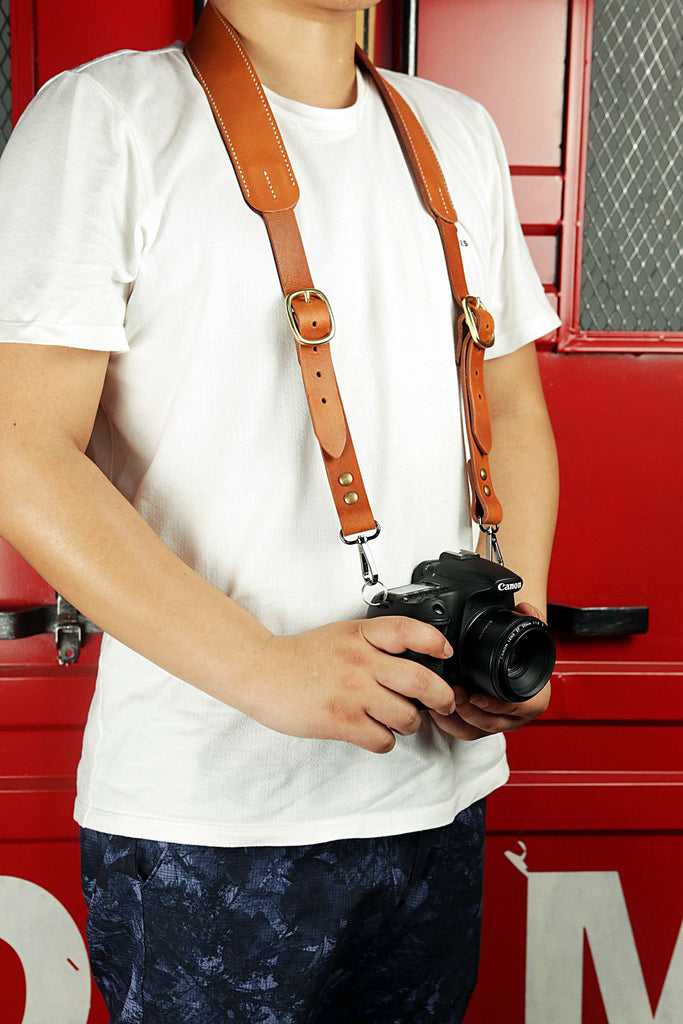 Personalized quick release camera shoulder strap