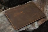 Personalized real Leather macbook sleeve case