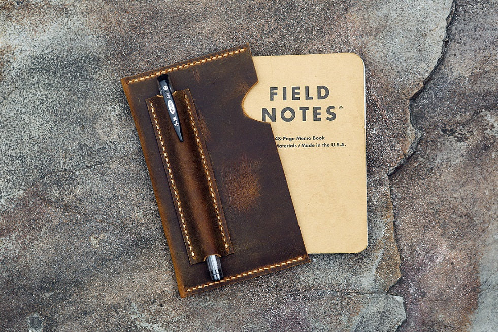leather field notes sleeve