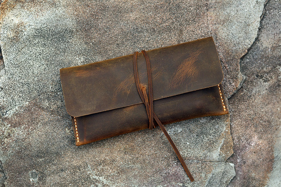 leather pencil sleeve