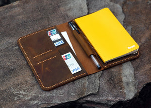 leather A6 journal