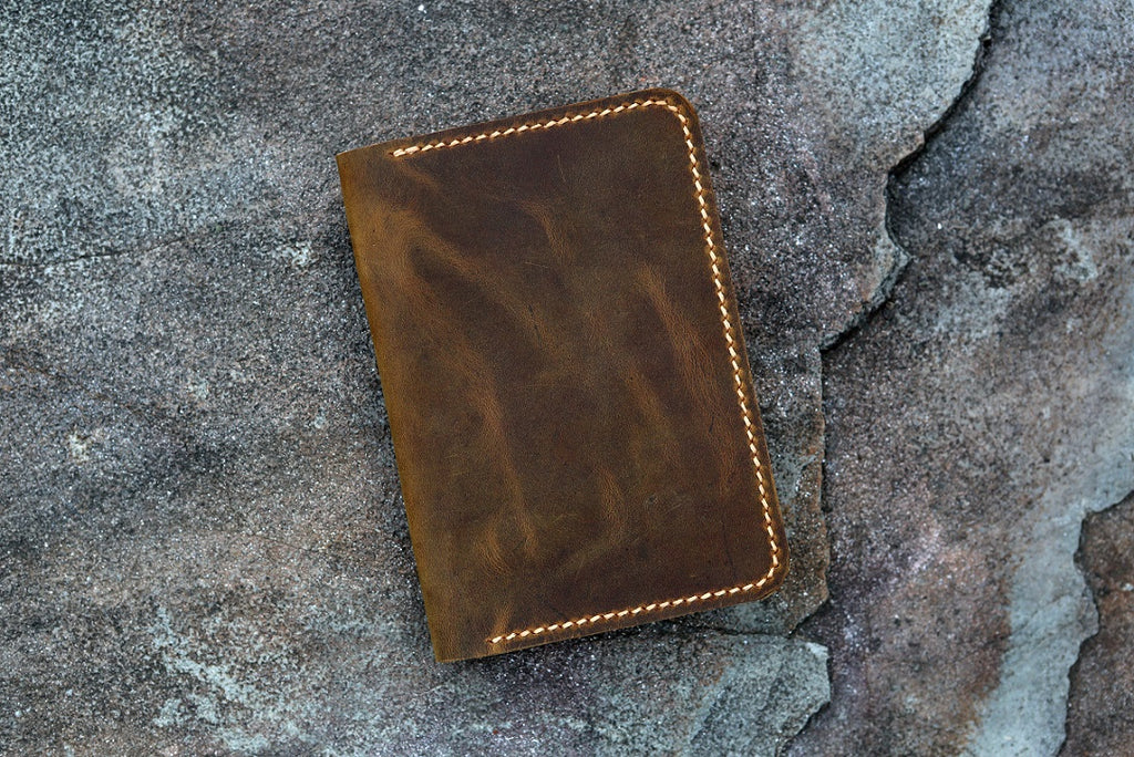 Personalized leather passport holder cover