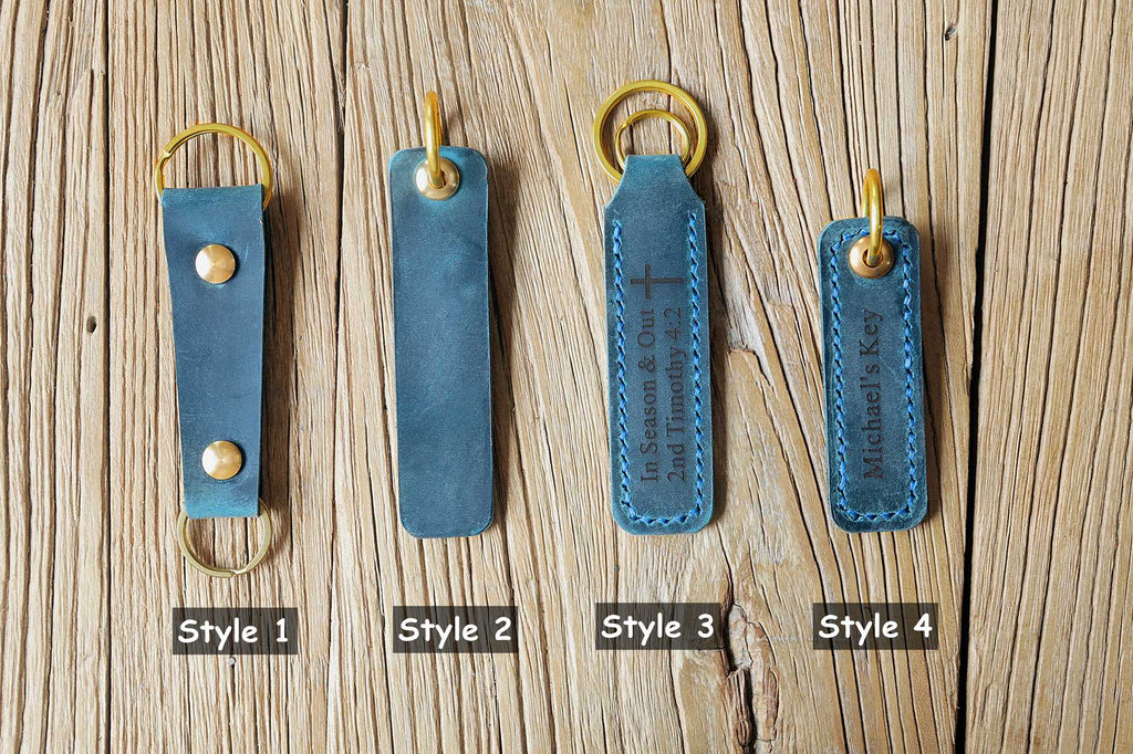 leather car key tag