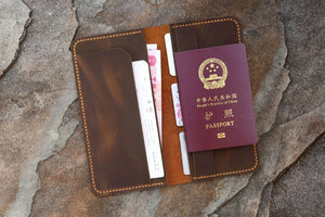 leather boarding pass wallet