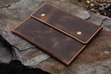 Rustic leather case sleeve for iPad