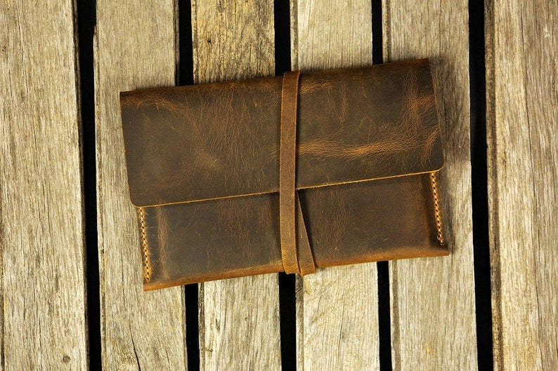Distressed leather kindle Fire HD 8/10 cover