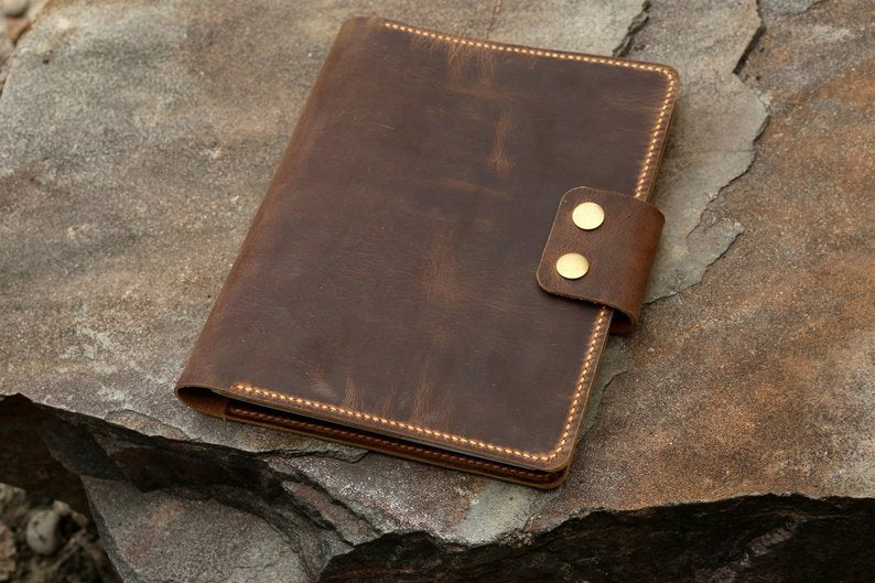 leather cover for A5+ RHODIA notebook