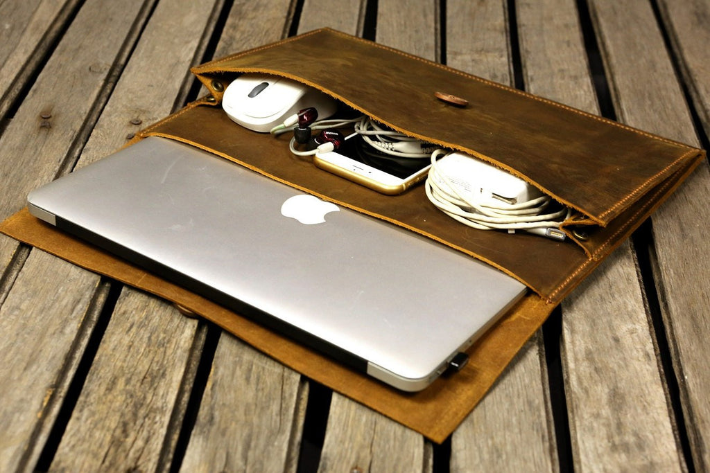 leather macbook organizer