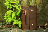 Leather cover portfolio for MOLESKINE classic notebook Large size