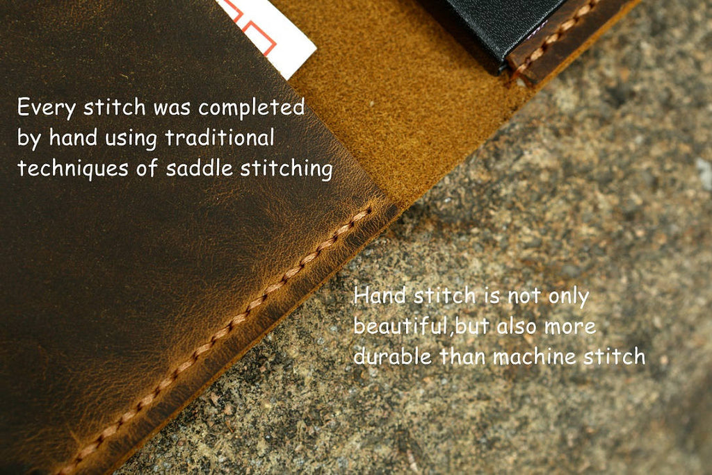 Distressed leather cover for Moleskine classic notebook pocket size