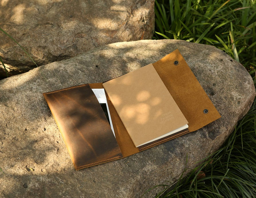 refillable a5 notebook leather cove