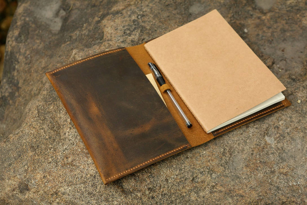 A5 Refillable Leather Journal Notebook cover