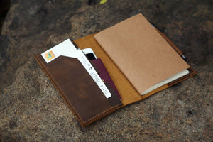 Personalized A5 Leather Traveler's Notebook