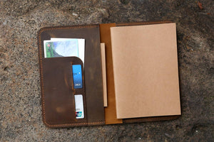 leather refillable travel diary A5 insert