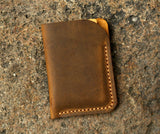 Minimalist leather credit card sleeve holder business card case wallet