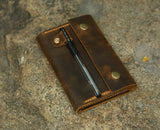 leather pocket moleskine cover
