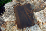 Vintage distressed leather iPad stand cover for 2020 iPad