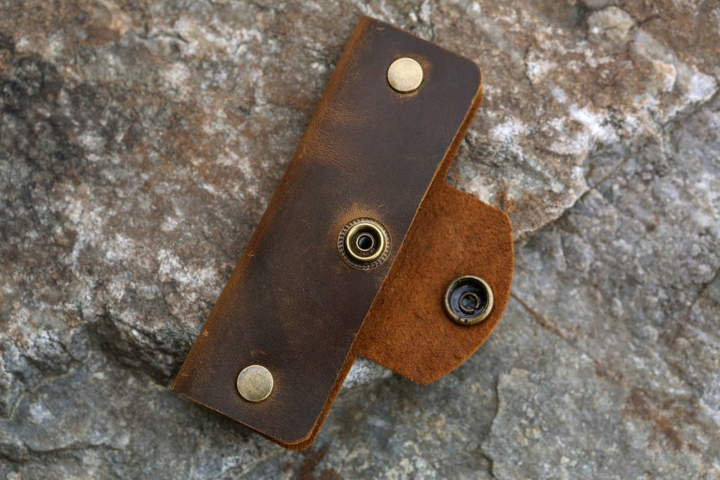 vintage leather key organizer slim leather key holder case