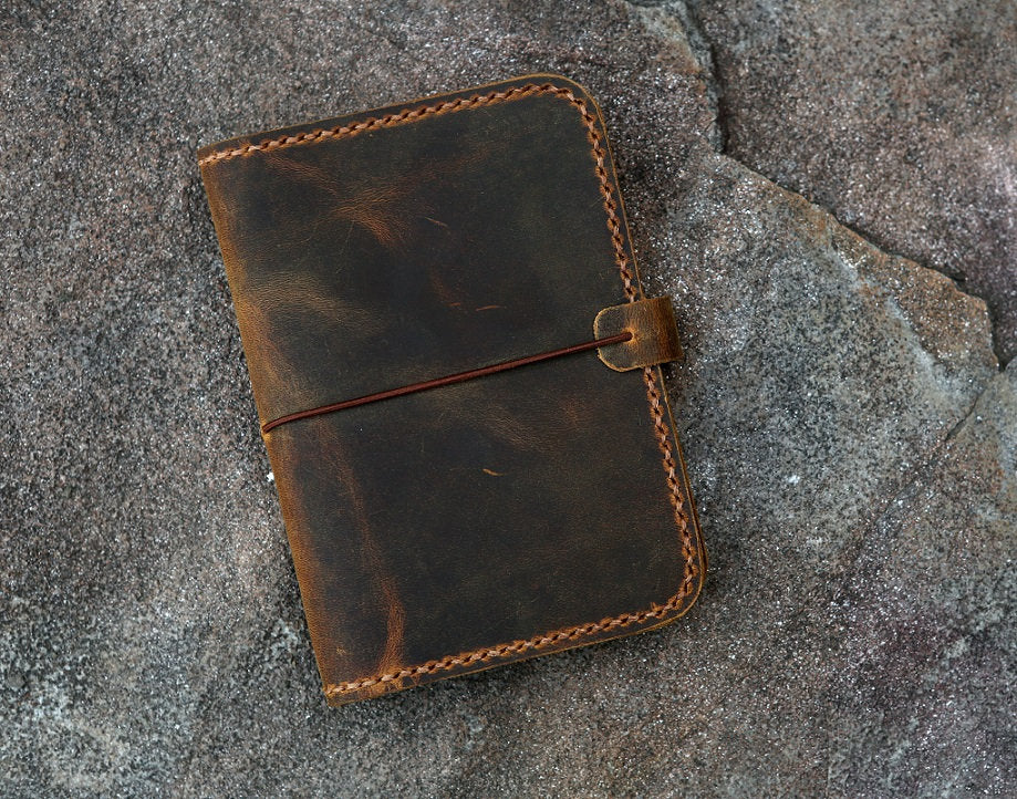 leather mini composition notebook 4.5 x 3.25""