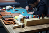 Leather Pencil Roll case storage / Leather Artist Tool Roll